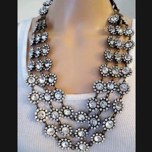 Oscar de la renta triple strand necklace